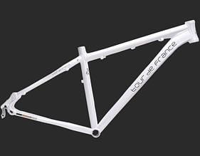 "Велосипедная рама 29"" алюминиевая Tour De France размер 17"" White"