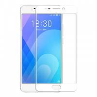 Защитное стекло Meizu M6 Note full cover white
