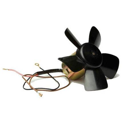 Электровентилятор отопителя 2101 Luzar (электродвигатель в сборе с крыльчаткой на подшипнике), фото 2