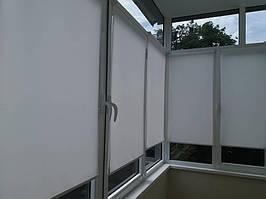 Тканевые ролеты, открытого типа на струнах, монтаж окно пвх балкон г.Киев
