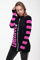 Туника вязанная Line Love черный, (4цв), женская вязанная туника, жіноча кофта в'язана, дропшиппинг, фото 1