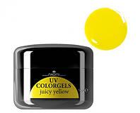Цветной гель Uv Colorgel Naomi Juicy Yellow 14 гр