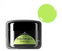 Цветной гель Uv Colorgel Naomi  Fresh Lime 14 гр