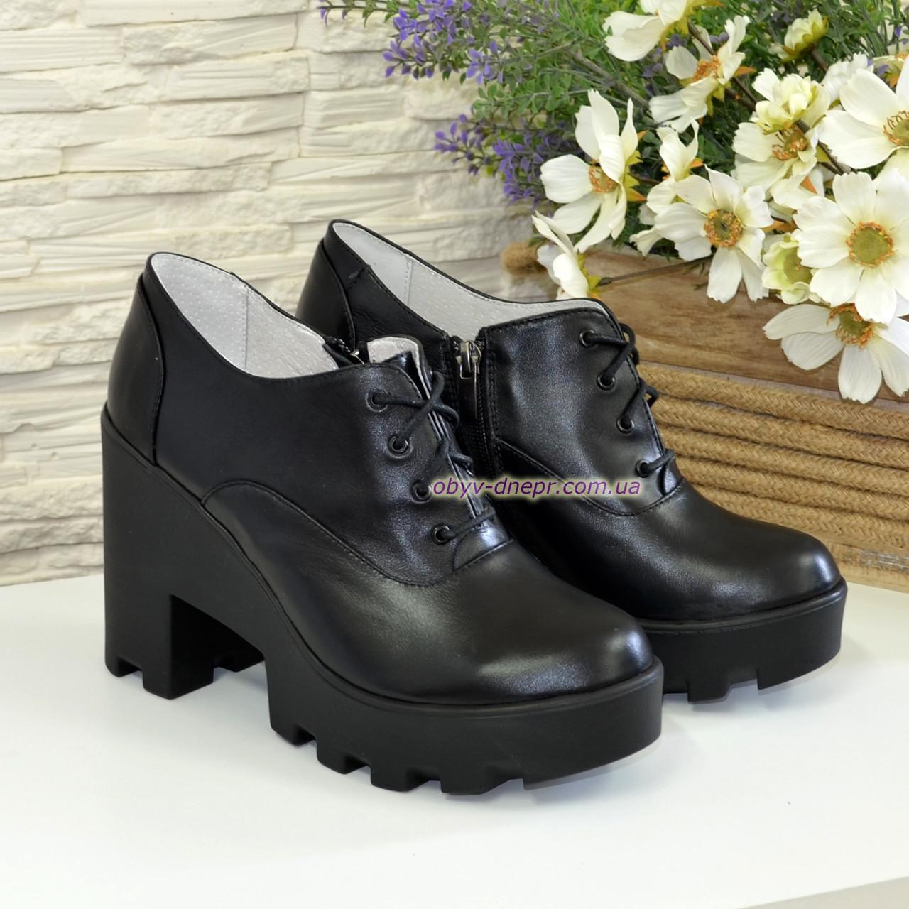 Туфли женские кожаные на шнуровке a6ce72a68ee27