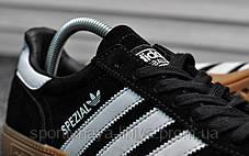 Кроссовки мужские черные Adidas Spezial Black White (реплика), фото 3