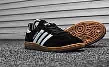 Кроссовки мужские черные Adidas Spezial Black White (реплика), фото 2