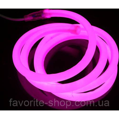 Neon круглая Pink