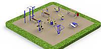 Спортивная площадка с уличными тренажерами 7870, фото 1