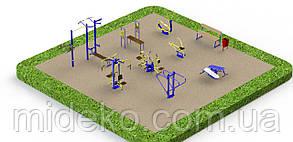 Спортивная площадка с уличными тренажерами 7870