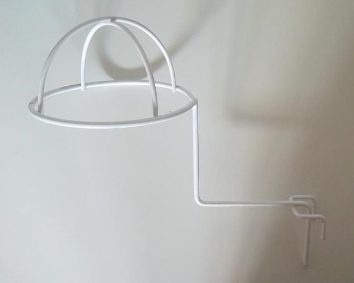Торговий гачок (крючок) для шапок напівсферичний на сітку