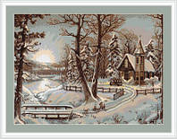 Набор для вышивки крестом Luca-S B321 «Зимний пейзаж»