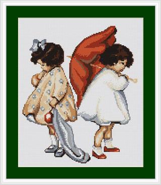 Набор для вышивки крестом Luca-S B379 «Рассерженные девочки»