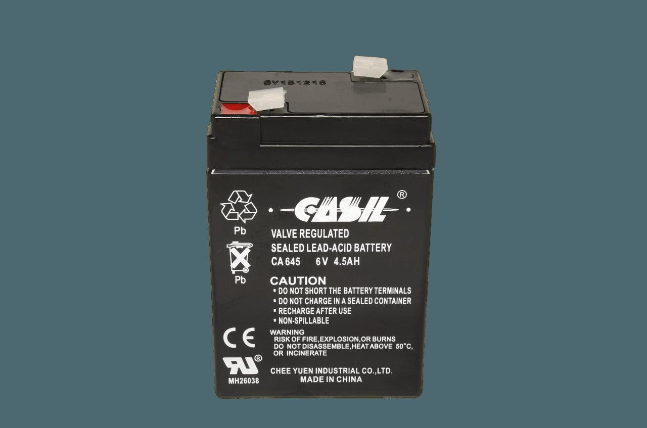 Свинцово-Кислотный аккумулятор Casil CA645 (6V, 4.5 Ah)