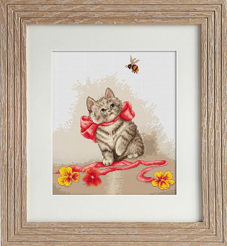 Набор для вышивки крестом Luca-S B2228 «Котёнок»