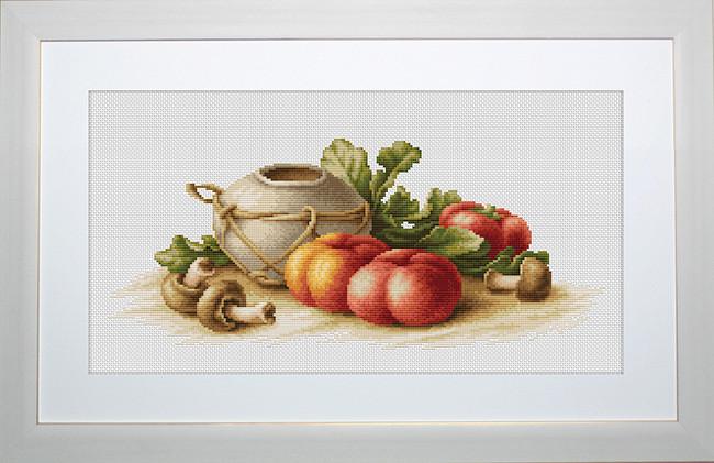 Набор для вышивки крестом Luca-S B2249 «Натюрморт с овощами»