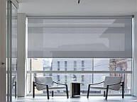 Ролеты на панорамные окна. Ткань скрин (screen). Электроуправляемые.