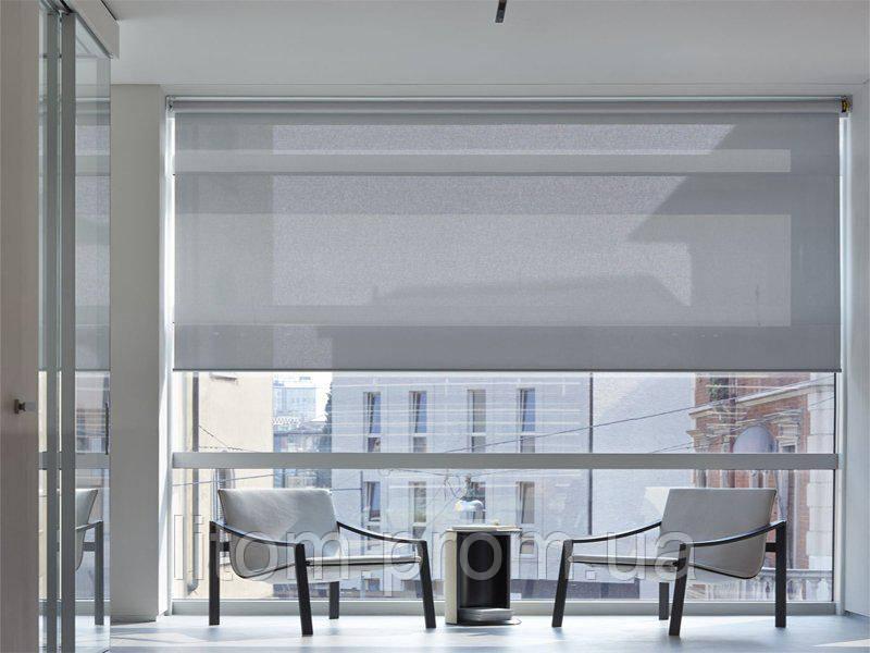 ролеты на панорамные окна ткань скрин Screen электроуправляемые
