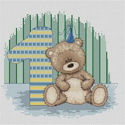 Набор для вышивки крестом Luca-S B1087 «Медвежонок Бруно»