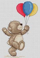 Набор для вышивки крестом Luca-S B1097 «Медвежонок Бруно»