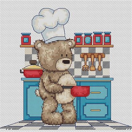 Набор для вышивки крестом Luca-S B1089 «Медвежонок Бруно»