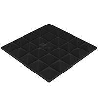 """Акустический поролон """"Пирамида 30"""" 25*25 см. звукопоглощающий. Черный графит"""