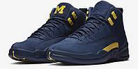 Кроссовки Баскетбольные Nike Air Jordan XII Retro Michigan, фото 1