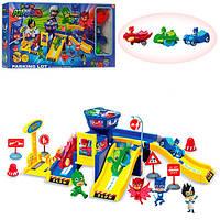 Гараж PJ Masks 2 этажа ZY-715A + 3 машинки с героями