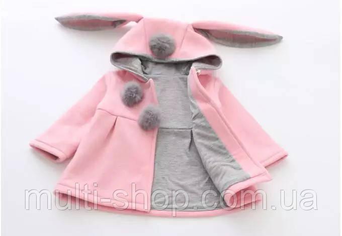Пальто для девочки Зайка