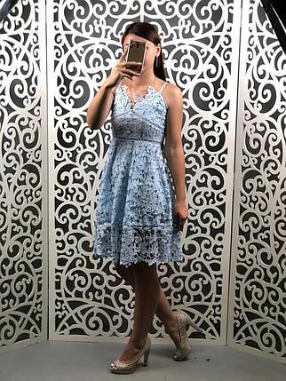 """Сногсшибательное женский сарафан ажурный ткань """"Кружево на подкладке"""" 42, 44 размер норма, фото 2"""