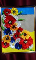 """Настенное панно в рамке для декора интерьера """"Украинское поле"""", фото 1"""