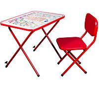 Детская складная стол-парта со стульчиком Ommi оптима для детей 3-8 лет  Красная