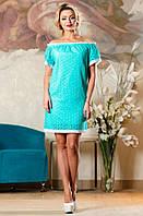 Летнее уникальное платье бирюзового цвета Д-1491