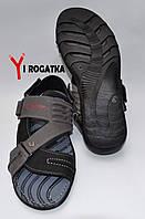 Мужские нубуковые сандали SPLINTER, черные с серым, съемный задник