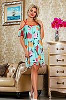 Летнее красивое платье в цветочек Д-1480