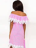 Летнее хлопковое платье с открытыми плечами Д-1450, фото 2