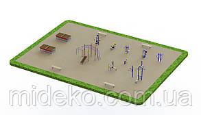 Спортивная площадка с уличными тренажерами 1259