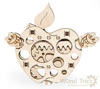 3D деревянный сборный механический конструктор Wood Trick Вудик Яблоко