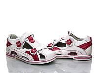 Обувь для девочек, детские кожанные босоножки ортопедические Clibee (Румыния) 25р. по стельке 15,0 с