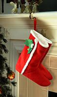 """Тапочки новогодние, сапожки домашние флисовые """"Рождество"""", домашние тапочки для всей семьи."""