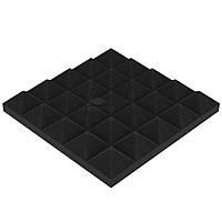 Акустический поролон «Пирамида 40» 25*25 см. звукопоглощающий. Чёрный графит