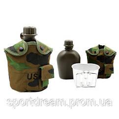 Фляга 1л с котелком в чехле камуфляж Multicam TY-4834-1