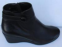 Ботинки кожаные на танкетке от производителя модель МВ402Т, фото 1