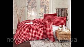 Комплект постельного белья фланель Herry Евро размер (простынь на резинке)