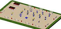 Спортивная площадка с уличными тренажерами 1729, фото 1