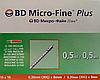 Шприцы БД Микро-Файн Плюс / BD Micro-Fine Plus 0,5 мл (0,3 мм х 8 мм) для U-100 инсулина №100