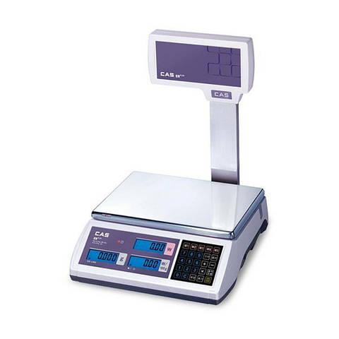 Весы торговые 6, 15, 30 кг – ER Plus EU RS CAS (с подключением)