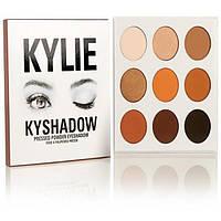 Тени KYLIE KYSHADOW pressed powder eyeshadow the bronze palette 9 цветов