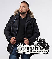 Braggart Aggressive 21226M | Куртка мужская на кнопках черная, фото 1