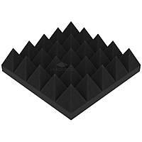 Акустический поролон «Пирамида 70» 25*25 см. звукопоглощающий. Чёрный графит