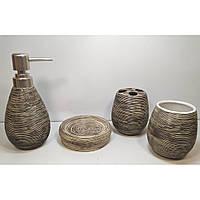 Набор для ванной керамический черный (23х27,5х9 см)